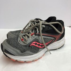 Saucony Gray And Pink Cohesion 10 Running Sneakers